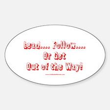 Unique Follow Sticker (Oval)