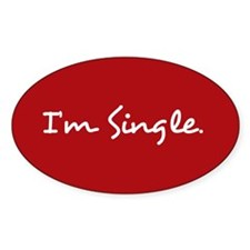 I'm Single Sticker (red)