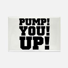 Pump! You! Up! Weightlifting SNL Rectangle Magnet
