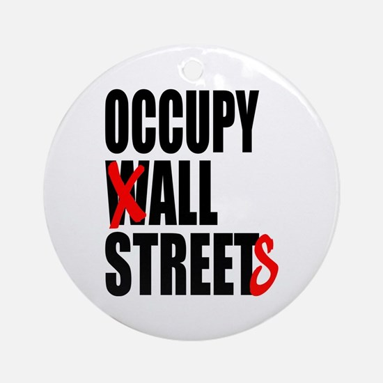 Occupy Graffiti Logo Ornament (Round)