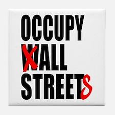 Occupy Graffiti Logo Tile Coaster