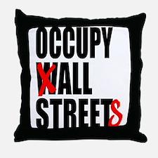 Occupy Graffiti Logo Throw Pillow