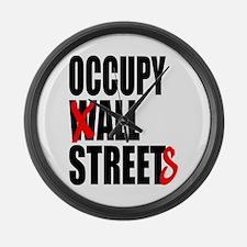 Occupy Graffiti Logo Large Wall Clock