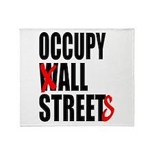 Occupy Graffiti Logo Throw Blanket