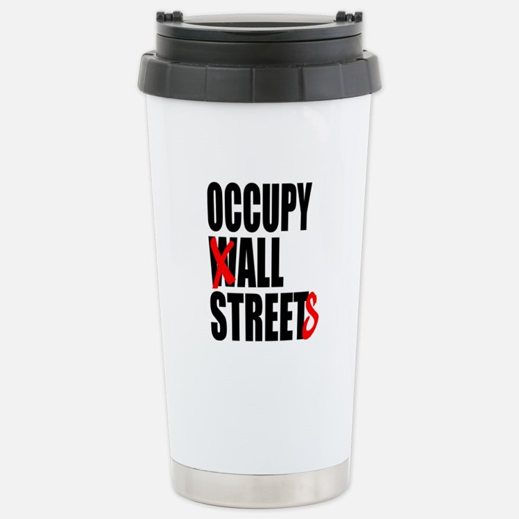 Occupy Graffiti Logo Travel Mug