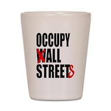 Occupy Graffiti Logo Shot Glass