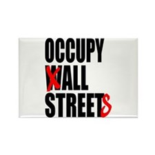 Occupy Graffiti Logo Rectangle Magnet