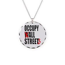 Occupy Graffiti Logo Necklace