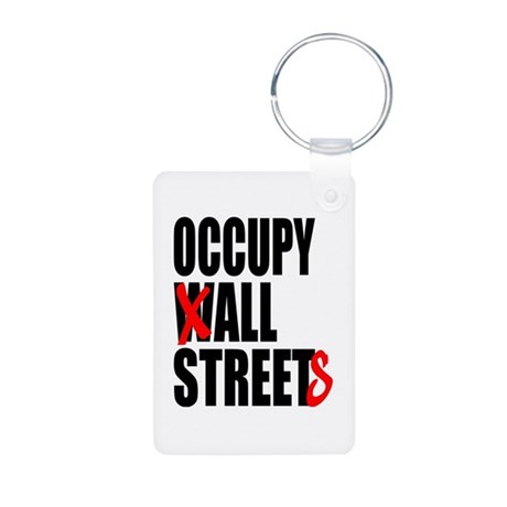 Occupy Graffiti Logo Aluminum Photo Keychain
