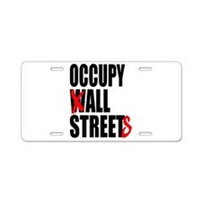 Occupy Graffiti Logo Aluminum License Plate