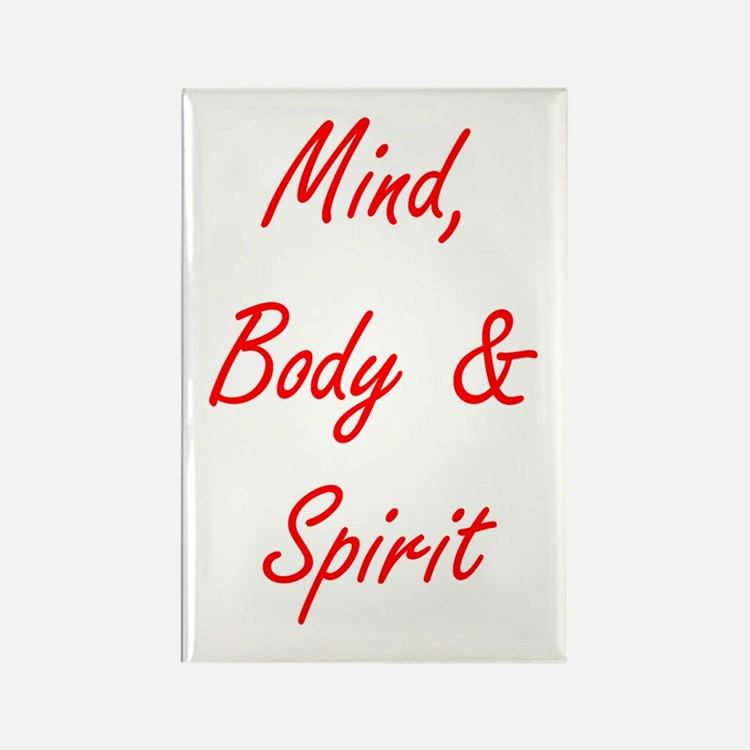 MIND, BODY & SPIRIT....... Rectangle Magnet