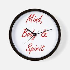 MIND, BODY & SPIRIT....... Wall Clock