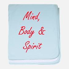 MIND, BODY & SPIRIT....... baby blanket