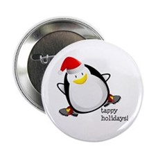 "Tappy Holidays! by DanceShirts.com 2.25"" Butt"
