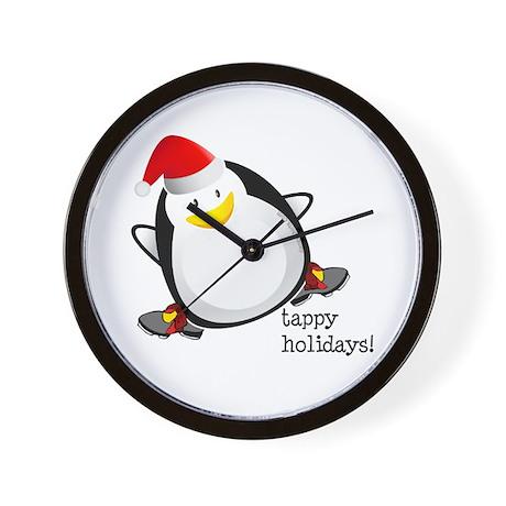 Tappy Holidays! by DanceShirts.com Wall Clock