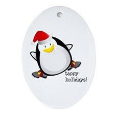 Tappy Holidays! by DanceShirts.com Ornament (Oval)