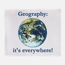 Geography Throw Blanket