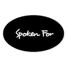 Spoken For Sticker (Black)