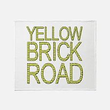 The Yellow Brick Road Wizard of Oz Throw Blanket