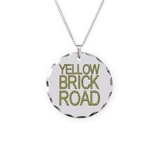 The Yellow Brick Road Wizard of Oz Necklace Circle