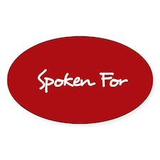 Spoken For Sticker (Red)