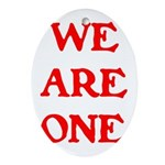 WE ARE ONE XXV Ornament (Oval)