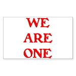 WE ARE ONE XXV Sticker (Rectangle 50 pk)