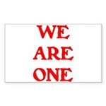 WE ARE ONE XXV Sticker (Rectangle 10 pk)
