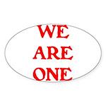 WE ARE ONE XXV Sticker (Oval 50 pk)