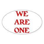 WE ARE ONE XXV Sticker (Oval)