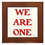 WE ARE ONE XXV Framed Tile