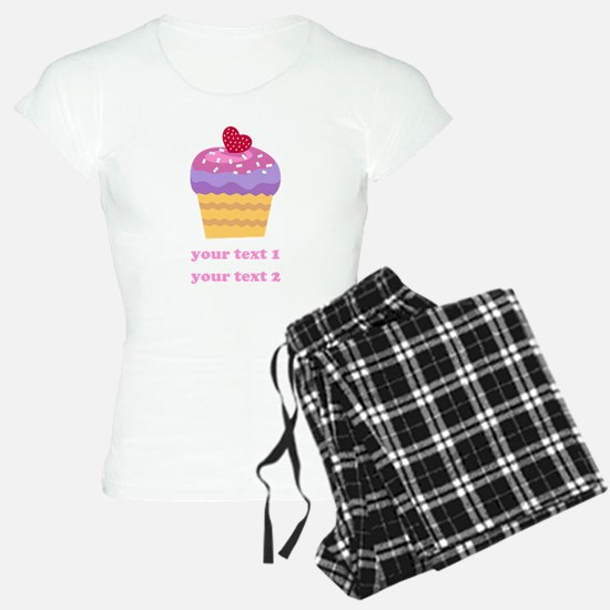 PERSONALIZE Fruit Cupcake pajamas