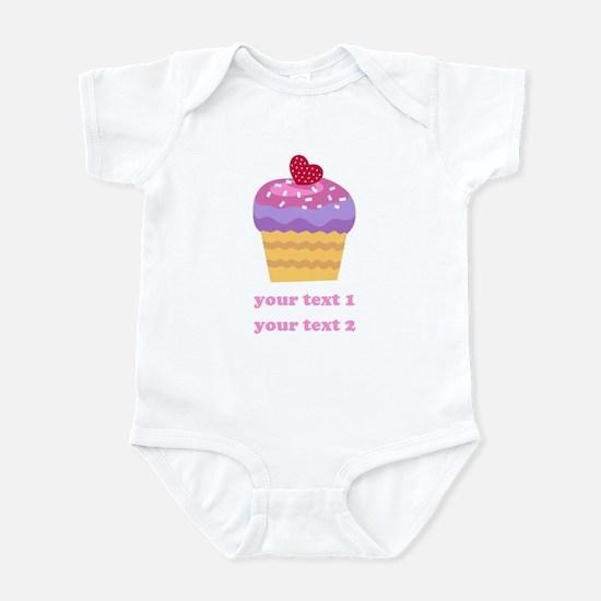 PERSONALIZE Fruit Cupcake Infant Bodysuit