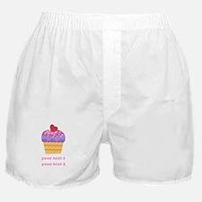 PERSONALIZE Fruit Cupcake Boxer Shorts