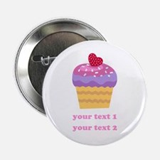 """PERSONALIZE Fruit Cupcake 2.25"""" Button"""