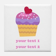 PERSONALIZE Fruit Cupcake Tile Coaster