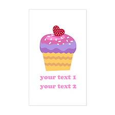 PERSONALIZE Fruit Cupcake Sticker (Rectangle)