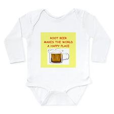 root beer Long Sleeve Infant Bodysuit
