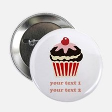 """PERSONALIZE Vanilla Cupcake 2.25"""" Button"""
