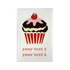 PERSONALIZE Vanilla Cupcake Rectangle Magnet