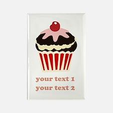 PERSONALIZE Vanilla Cupcake Rectangle Magnet