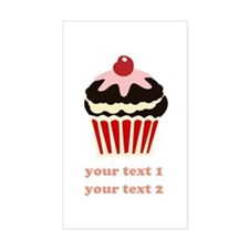 PERSONALIZE Vanilla Cupcake Sticker (Rectangle)