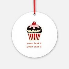 PERSONALIZE Vanilla Cupcake Ornament (Round)
