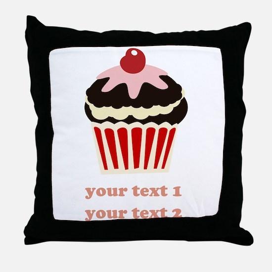 PERSONALIZE Vanilla Cupcake Throw Pillow