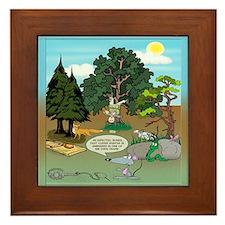 'Clever Hunter' Framed Tile