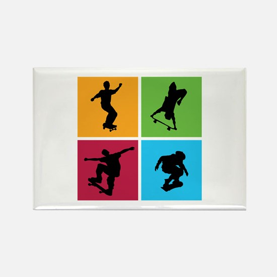 Nice various skating Rectangle Magnet