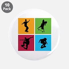 "Nice various skating 3.5"" Button (10 pack)"