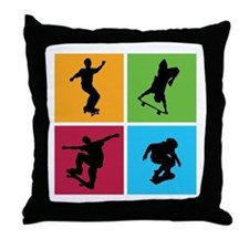 Nice various skating Throw Pillow