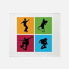 Nice various skating Throw Blanket