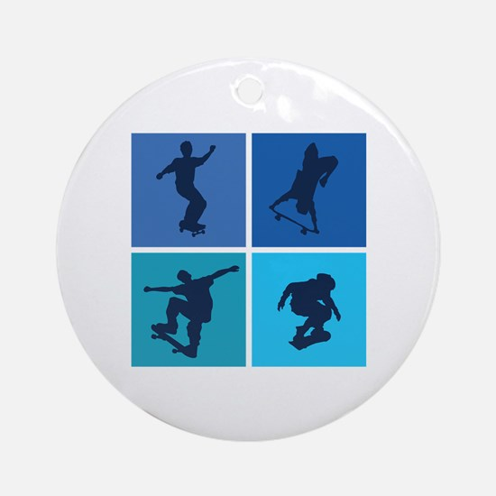 Nice various skating Ornament (Round)